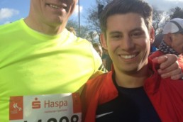 Vor dem Start des Haspa Marathon Hamburg 2016