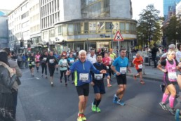 Kilometer 10 des Mainova Frankfurt Marathon 2016