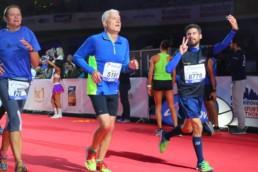 Zieleinlauf beim Mainova Frankfurt Marathon 2016