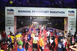 Zielfoto beim Mainova Frankfurt Marathon 2016