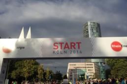 Das ist der Start vom RheinEnergieMarathon Köln 2016