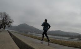 Laufen im Regen in Bonn