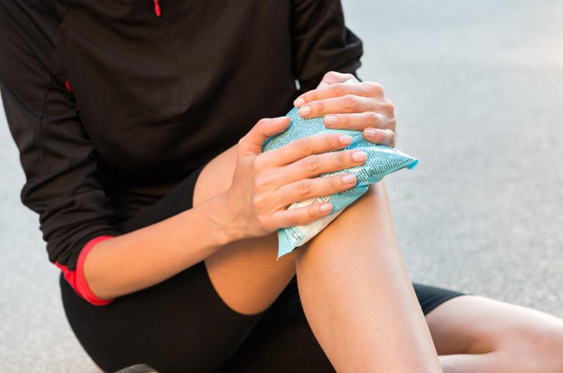 Eispack zur Kühlung von akuten Verletzungen