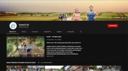 Screenshot vom Laufkanal von larasch.de