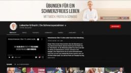 Screenshot vom Laufkanal von Liebscher & Bracht
