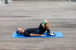 Hüfttraining für Läufer: Beckenheben Ausgangsstellung