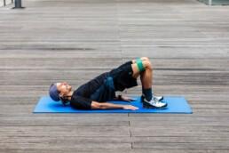 Hüfttraining für Läufer: Beckenheben Endposition