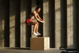 Plyometrische Übungen für Läufer Box Jumps