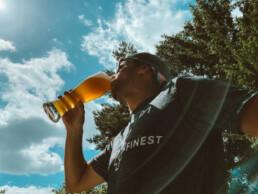 Wasser mitnehmen alkoholfreies Weizen trinken